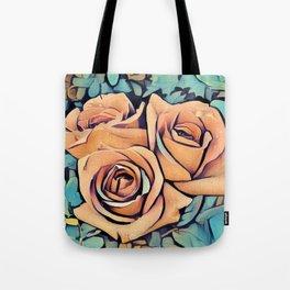 Colorful Roses Tote Bag
