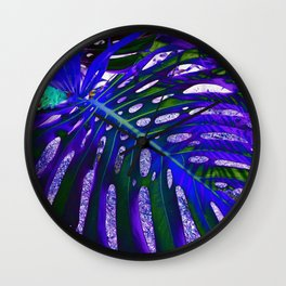 Night Leaf Wall Clock