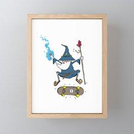 Skate Wizard Framed Mini Art Print