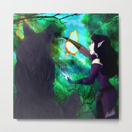 Elethyn and the Barrier Metal Print