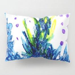 blue fire Pillow Sham