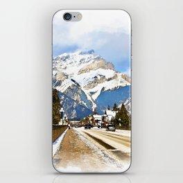 Cascade Mountain - Banff  Alberta Canada iPhone Skin