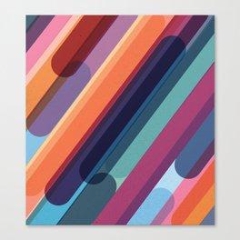 Rainbow Candy Stripes Canvas Print