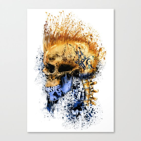 Golden Skull Canvas Print