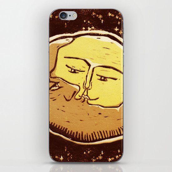 Conjunction moon and planet iPhone & iPod Skin