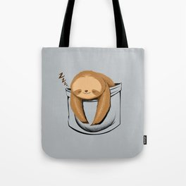 Sloth in a Pocket Tote Bag