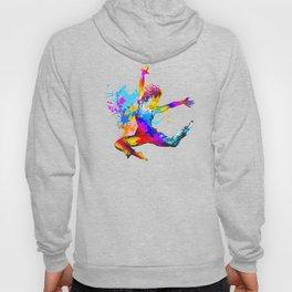 Hip hop dancer jumping Hoody