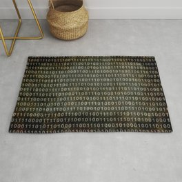 The Binary Code - Dark Grunge version Rug