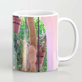 Potted Plants Behind Bars on Porch Coffee Mug