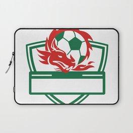 Red Dragon Soccer Ball Crest Laptop Sleeve
