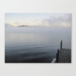 Dock in the Mist Canvas Print
