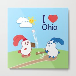 Ernest and Coraline | I love Ohio Metal Print