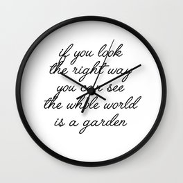 if you look Wall Clock