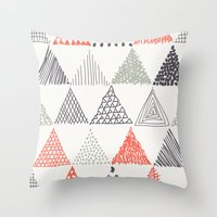 triangle Throw Pillows featuring Triangle by samedia