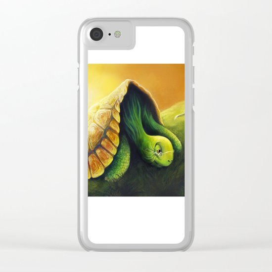 Tortoise and the Hare Clear iPhone Case
