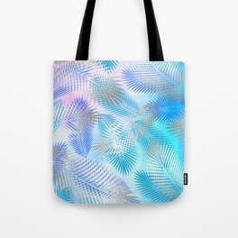 Watercolor and Silver Feathers on Watercolor Background Tote Bag