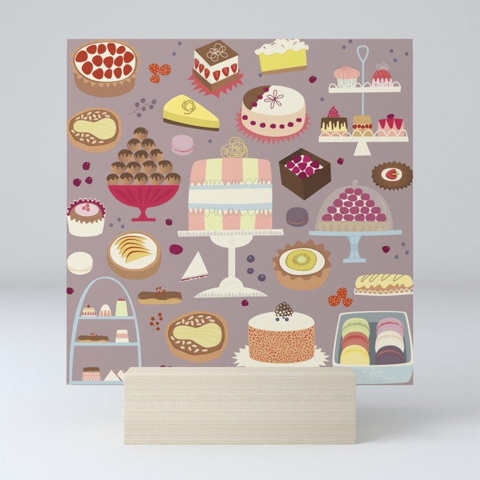 Patisserie Cakes and Good Things Mini Art Print