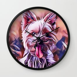 The Australian Silky Terrier Wall Clock
