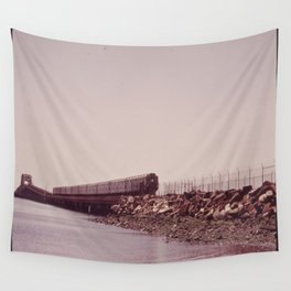 NEW YORK SUBWAY IS ABOVE GROUND WHEN IT CROSSES JAMAICA BAY AREA Wall Tapestry