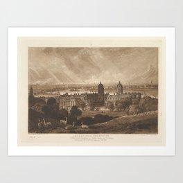 London from Greenwich (Liber Studiorum, part V, plate 26) Art Print