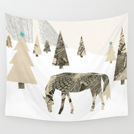 Winter Woods with Horse Wall Tapestry