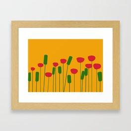 Poppies in orange Framed Art Print