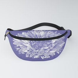 Stamped Wildflower in Lavender Fanny Pack