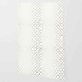 Simply Mod Diamond White Gold Sands on White Wallpaper