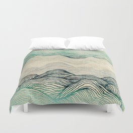 Crash Into Me Waves Duvet Cover