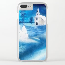 Christmas Serenade Clear iPhone Case