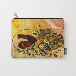 Abstract Acrylic Painting ROOSTER Carry-All Pouch