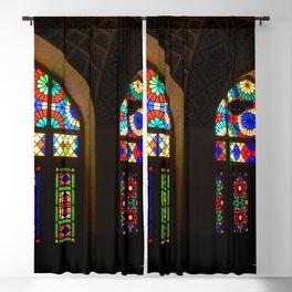 Stained Glass Windows Nasir-al-Molk Mosque Shiraz Iran Blackout Curtain