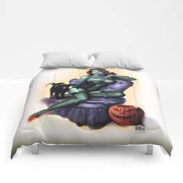 Halloween Zombie Girl Pin Up Comforters