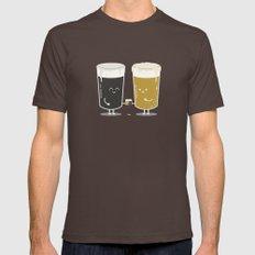 Cheers! Brown Mens Fitted Tee MEDIUM