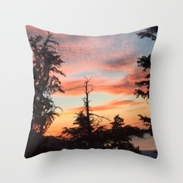 In the Woods of South Lake Tahoe Throw Pillow