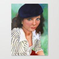 american beauty Canvas Prints featuring American Beauty by Ellen Sullivan Farley