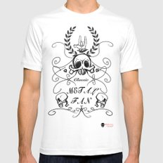 Classic metal fan  Mens Fitted Tee White MEDIUM