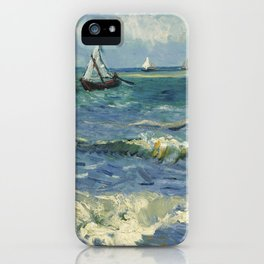Vincent van Gogh - Seascape near Les Saintes-Maries-de-la-Mer (1888) iPhone Case