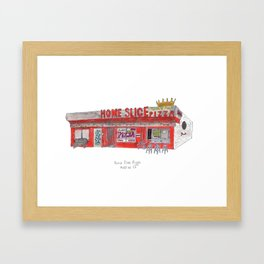 The Austin Collection: Home Slice Pizza Framed Art Print