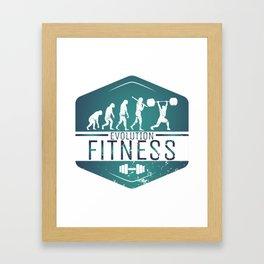 Evolution Fitness | Workout Training Muscles Framed Art Print