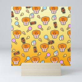 Rice ball Pumpkin Bunny Mini Art Print