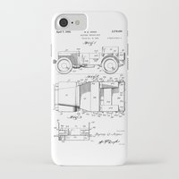 jeep iPhone & iPod Cases featuring Jeep: Byron Q. Jones Original Jeep Patent by Elegant Chaos Gallery