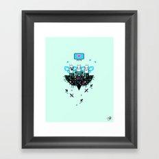 The Social Butterflies Framed Art Print