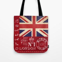 Union Jack Great Britain Flag Tote Bag