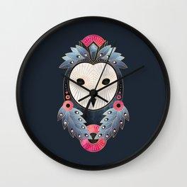 Owl 1 - Dark Wall Clock