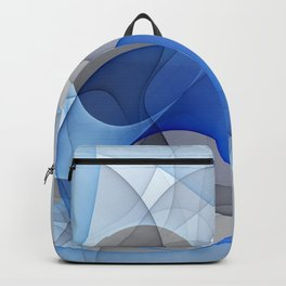 Abstract with Shades of Blue Backpack