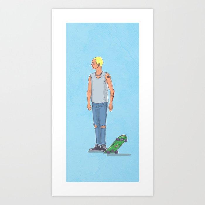 Skate Punk 1 Art Print