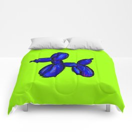 Doggy - blue & green Comforters