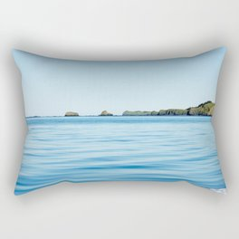 Island on the Horizon Photography Print Rectangular Pillow
