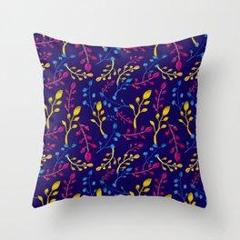 Cute and Colourful Leaf Print Throw Pillow